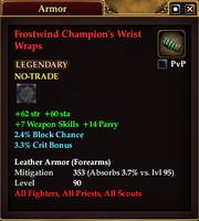 Frostwind Champion's Wrist Wraps