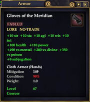 Gloves of the Meridian
