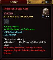 Iridescent Scale Coif