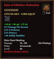 Katar of Effortless Perforation