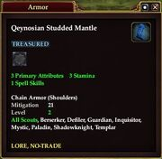 Qeynosian Studded Mantle