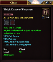 Thick Drape of Paroxysm