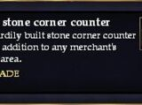 A long stone corner counter