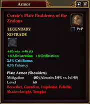 Curate's Plate Pauldrons of the Zealous