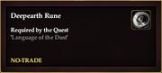 Deepearth Rune
