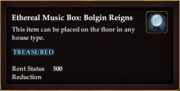 Ethereal Music Box Bolgin Reigns