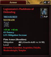 Legionnaire's Pauldrons of Defending