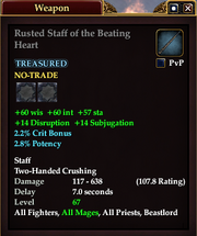 Rusted Staff of the Beating Heart