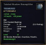 Tainted Shadow Bonesplitter