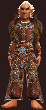Vesspyr Scholar's Elaborate Red Robe (Equipped)