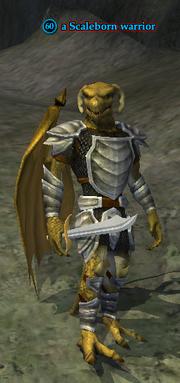 A Scaleborn warrior (Tenebrous Tangle)