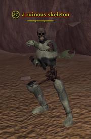A ruinous skeleton