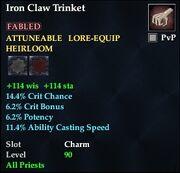 Iron Claw Trinket