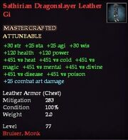 Sathirian Dragonslayer Leather Gi