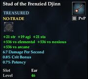 Stud of the Frenzied Djinn