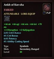 Ankh of Kor-sha