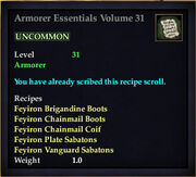 Armorer Essentials Volume 31