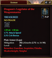 Dragoon's Legplates of the Weaponmaster