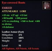 Eye-covered Boots