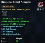 Ringlet of Secret Alliances
