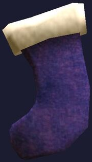 Small purple stocking (Visible)