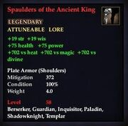 Spaulders of the Ancient King