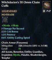 Witchdoctor's Ill Omen Chain Cuffs