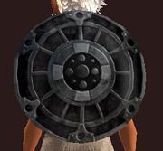 Bubinga Round Shield (Equipped)