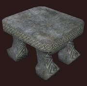 Hewn Stone Stool