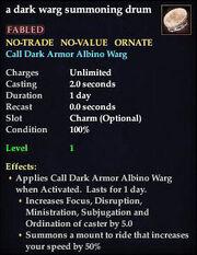 A dark warg summoning drum
