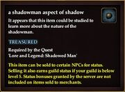 A shadowman aspect of shadow