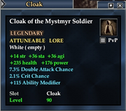 Cloak of the Mystmyr Soldier