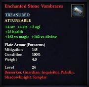 Enchanted Stone Vambraces