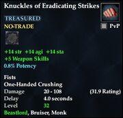 Knuckles of Eradicating Strikes