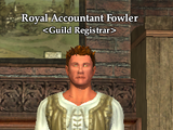 Royal Accountant Fowler