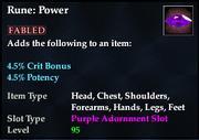 Rune- Power