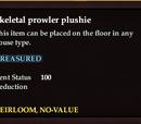 Skeletal prowler plushie