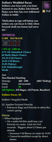 Sullon's Wrathful Focus