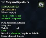 Tin Vanguard Spaulders