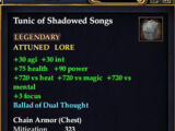 Tunic of Shadowed Songs
