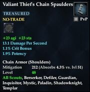 Valiant Thief's Chain Spaulders