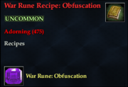 War Rune Recipe- Obfuscation