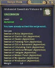 Alchemist Essentials Volume 45