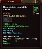Elementalist's Cowl of the Citadel