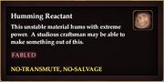 Humming Reactant