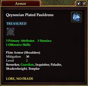 Qeynosian Plated Pauldrons