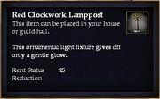 Red Clockwork Lamppost