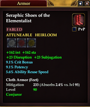 Seraphic Shoes of the Elementalist