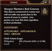 Vessp Warr red Greaves