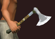 Callistan's Blood Soaked Cleaver (Equipped)